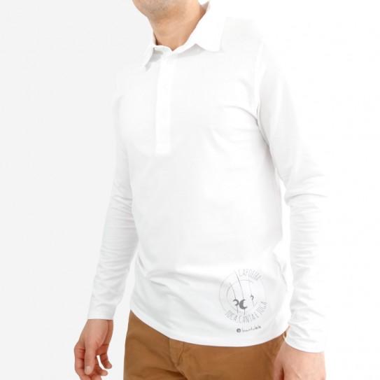 Long Sleeves Man's Polo Capoeira