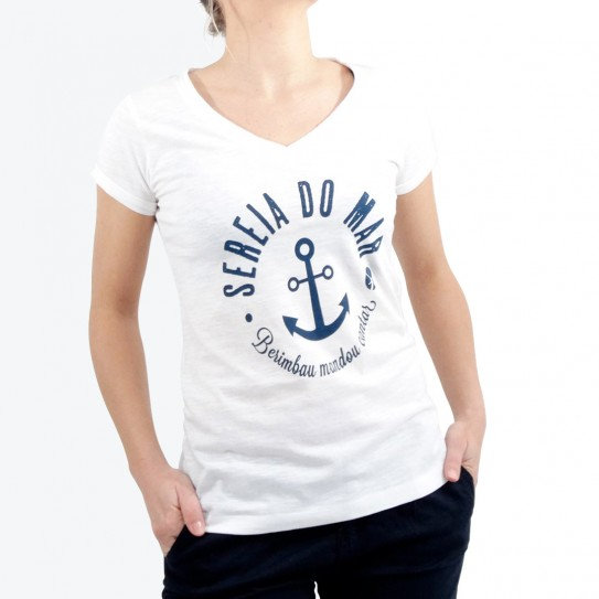 Woman's T-shirt Sereia Do Mar
